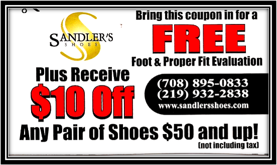 Sandleru0026#39;s Shoes - Promotions Bring In This Coupon! Excludes Clearance Shoes